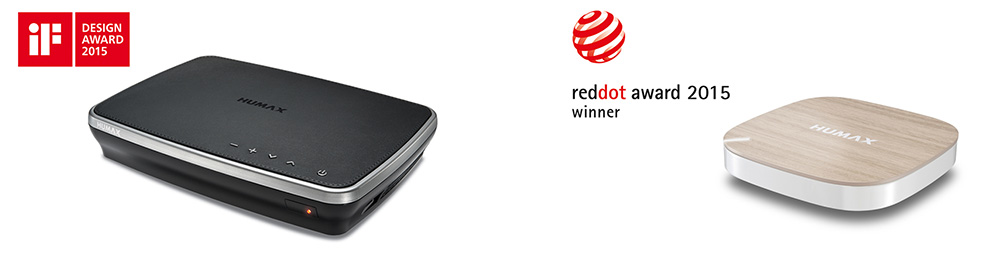 HUMAX has won the world's biggest design awards … Red Dot AWARD and iF DESIGN AWARD – March 30, 2015